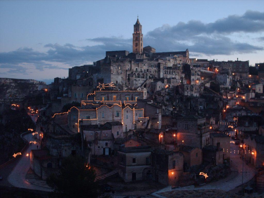 Natale nei Sassi, Matera (panorama da via D'Addozio)