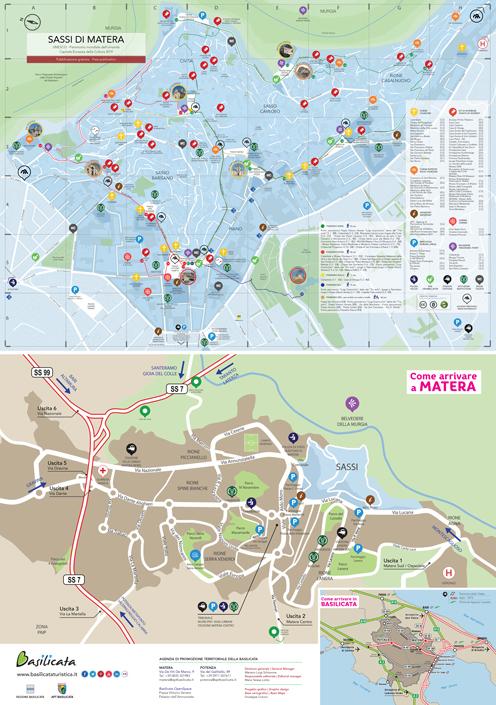 Lavello Potenza Cartina Geografica.Mappa Dei Sassi Di Matera