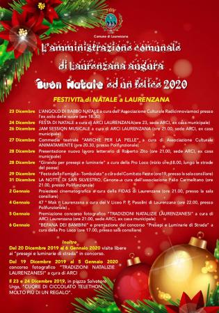 Immagini Natalizie Libere.Festivita Di Natale 2019 A Laurenzana Basilicata Turistica