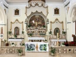 Nino Tricarico - la tovaglia per la santa messa di pasqua Castronuovo Sant'Andrea 2021