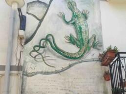 Satriano di Lucania - Murales la lucertola a due code