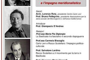 Locandina Seminario Levi Scotellaro Mazzarone, Rossi-Doria