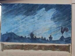 Satiano di Lucania murales sulla nascita di satriano