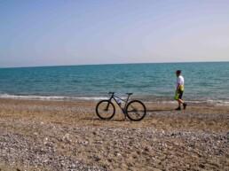 Spiaggia di Policoro in bici