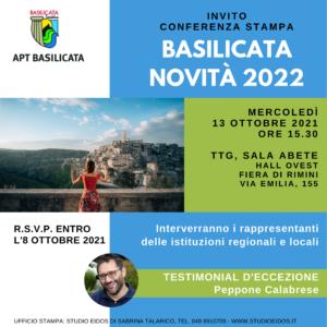 Invito APT Conferenza Stampa TTG Basilicata 2021